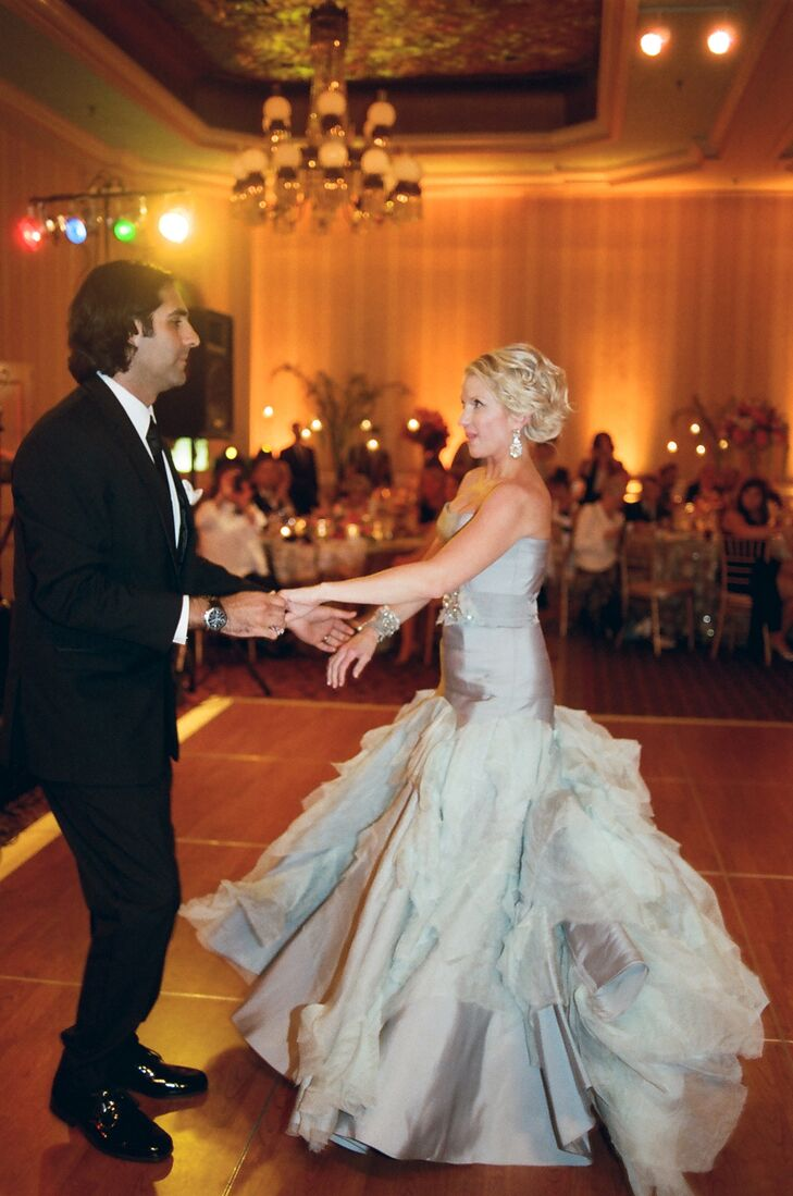 "The couple's first dance was to ""Tupelo Honey"" by Van Morrison."
