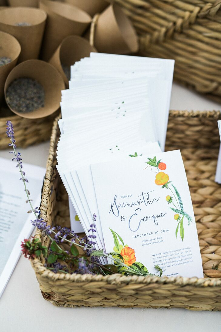 Garden-Themed Ceremony Programs