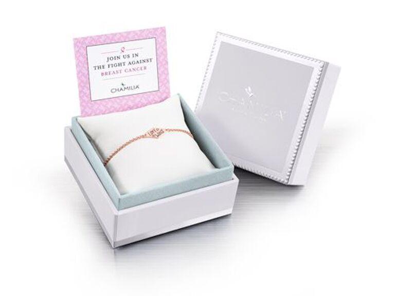 Chamilia Love Wins Breast Cancer Give Back rose gold bracelet