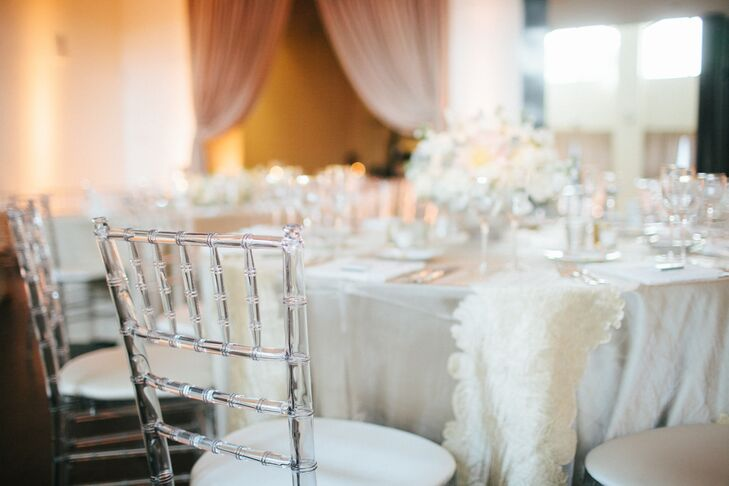 Clear Chiavari Chairs with White Linens
