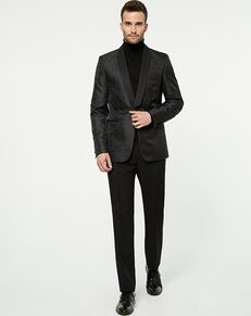 LE CHÂTEAU Wedding Boutique Tuxedos MENSWEAR_359573_010 Black Tuxedo