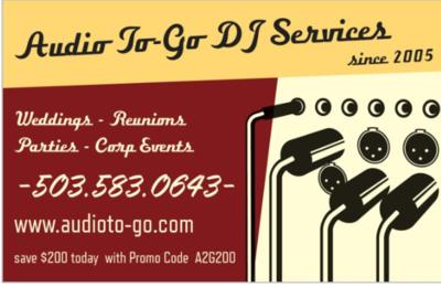 Audio to Go DJ Services