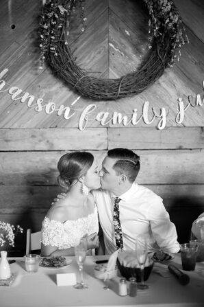 Playful, Modern Barn Wedding, Custom Signage