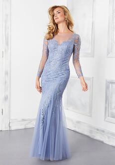 MGNY 73201 Blue Mother Of The Bride Dress