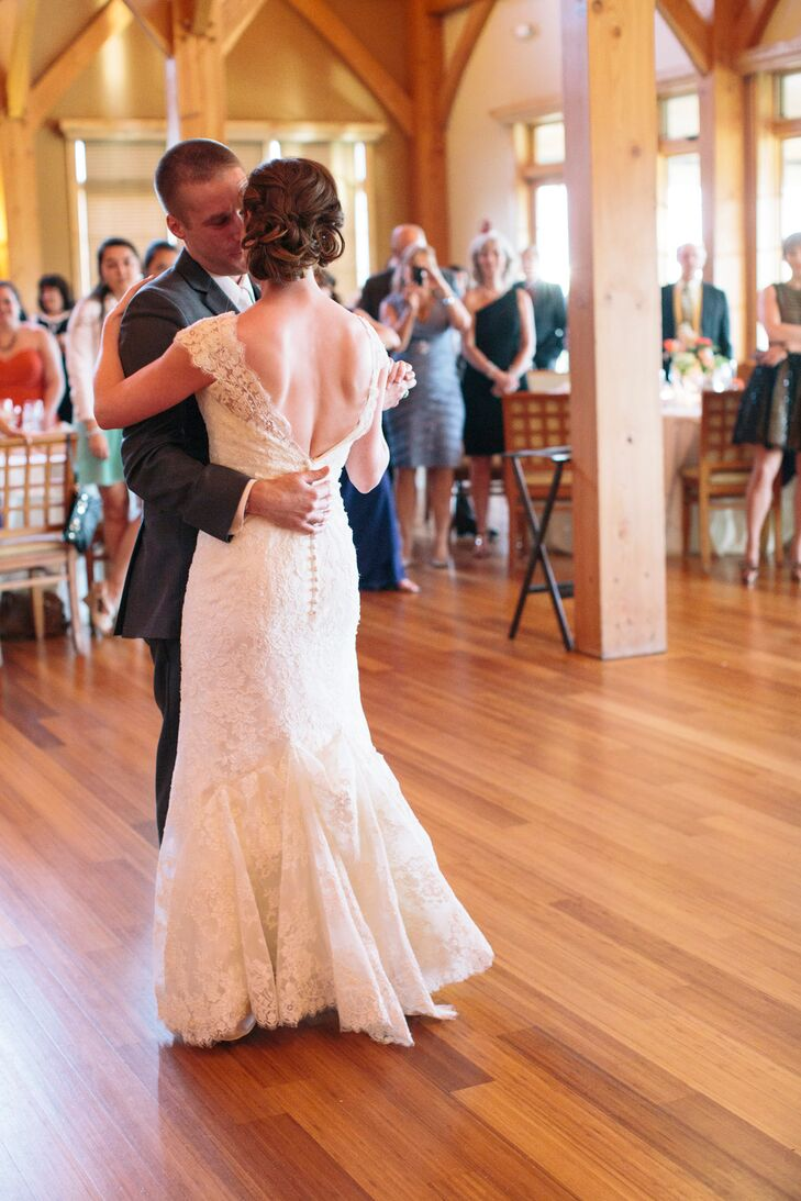 """""""Jim and I don't like being the center of attention so our first dance and cake cutting was kept short and sweet,"""" says Juli."""