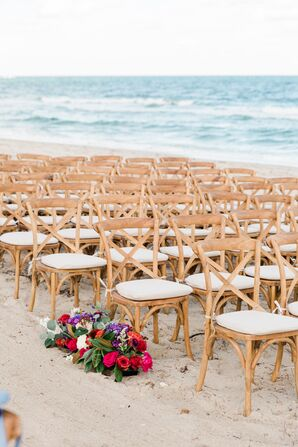 Rustic Cross-Back Ceremony Chairs