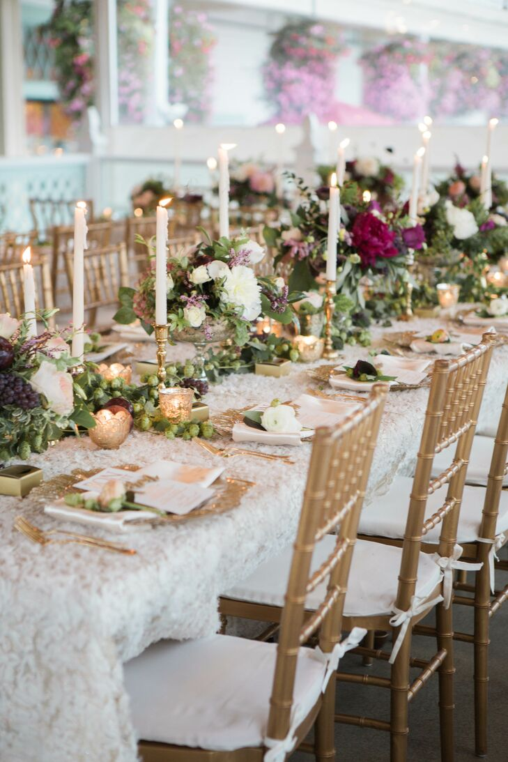 Dining Tables with Lace Table Linens
