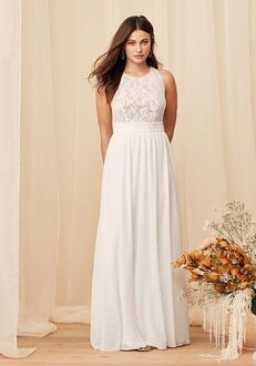 Lulus Forever and Always White Lace Maxi Dress A-Line Wedding Dress
