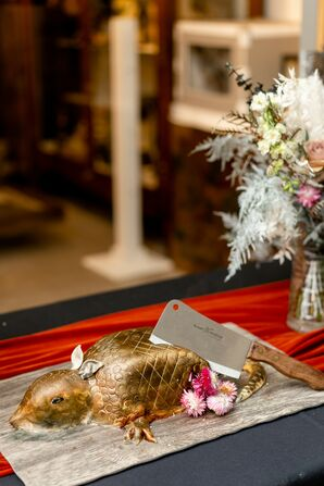 Armadillo Cake for Wedding at the Everhart Museum in Scranton, Pennsylvania