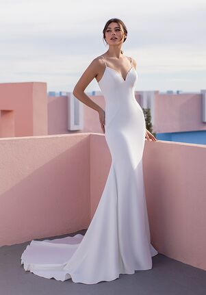 WHITE ONE ESSENTIALS ARVENSA Mermaid Wedding Dress