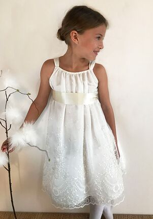 Isabel Garretón Romantic Ivory Flower Girl Dress