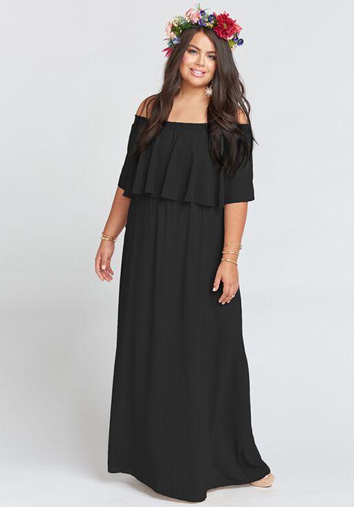 Show Me Your Mumu Hacienda Maxi Dress Black Chiffon Bridesmaid