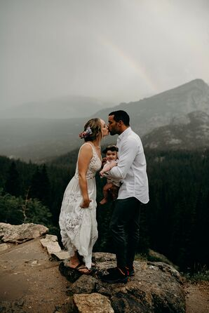 Casual Vow Renewal at Rocky Mountain National Park in Colorado