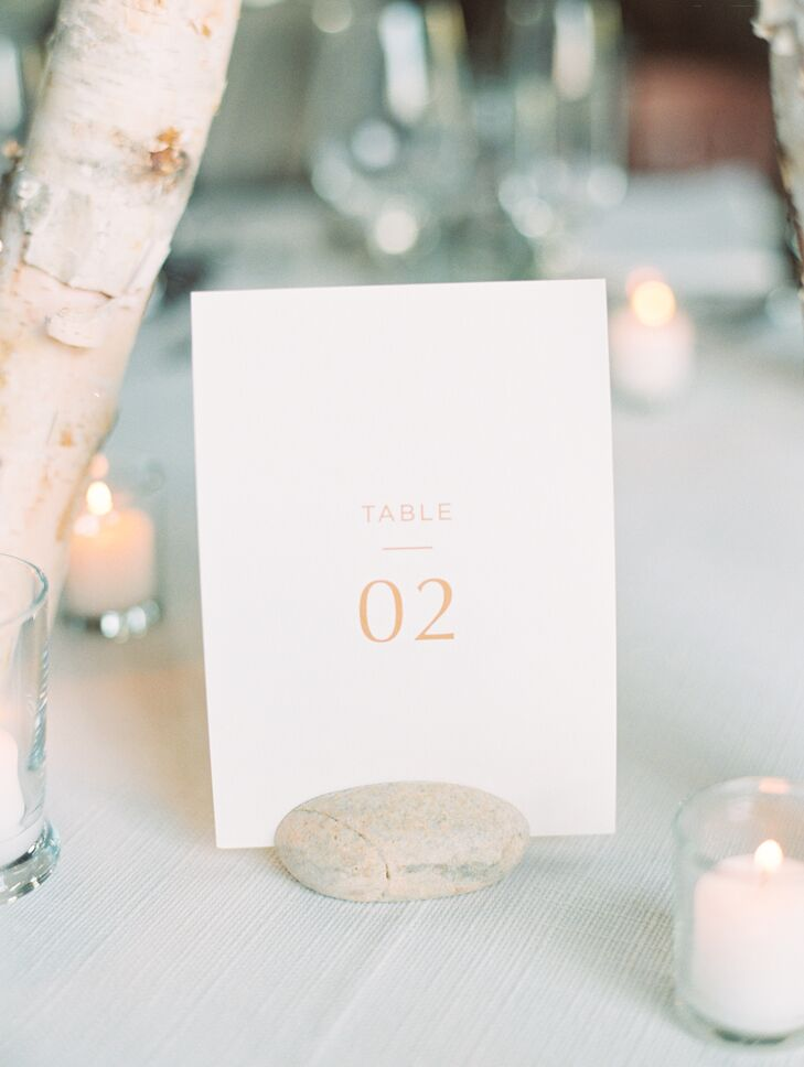 Simple White Table Numbers