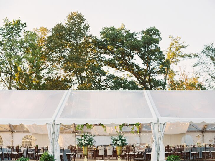 Backyard Tented Reception in Belleville, Illinois