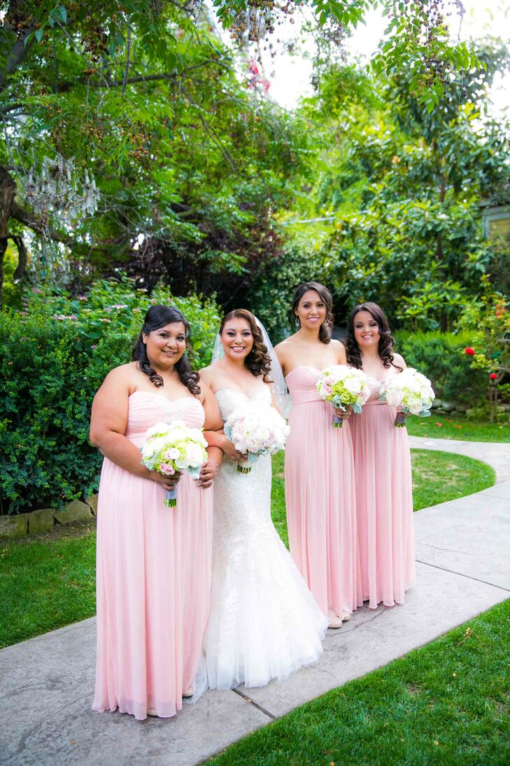 Long Light Pink Bridesmaid Dresses