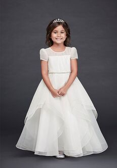 David's Bridal Flower Girl David's Bridal Style CR1392 White Flower Girl Dress