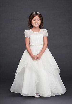 David's Bridal Flower Girl David's Bridal Style CR1392 White Flower Girl Dress