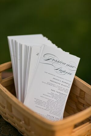 White and Black Script Ceremony Programs