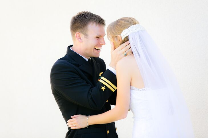 Happy Couple After Wedding Ceremony