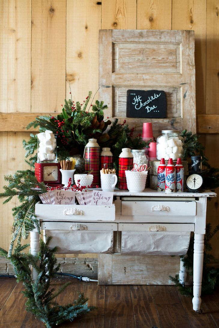 Rustic, DIY Hot Chocolate Bar