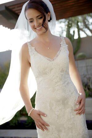 Sleeveless Lace Maggie Sottero Wedding Dress