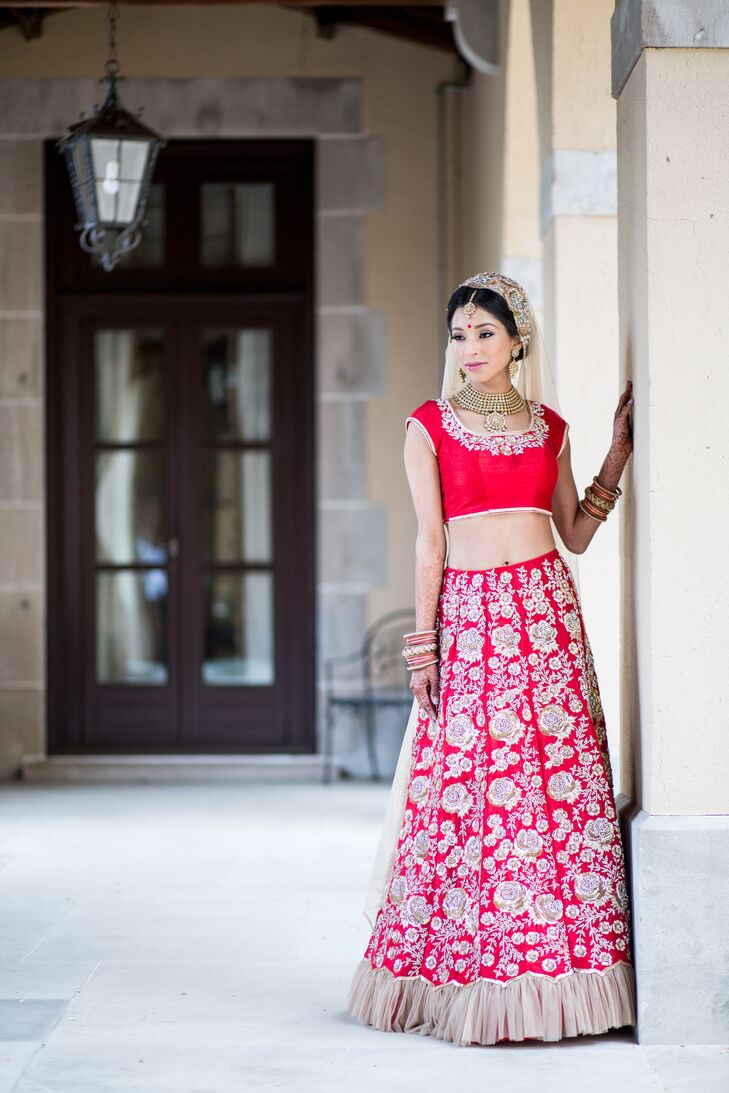Traditional Red Bridal Lehenga