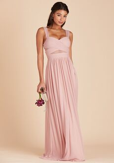 Birdy Grey Elsye Mesh Dress in Rose Quartz Sweetheart Bridesmaid Dress