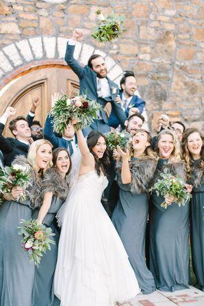 Candid Bridal Party Fun
