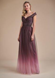 Belsoie Bridesmaids by Jasmine L224062 Off the Shoulder Bridesmaid Dress