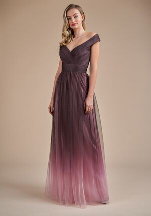 Belsoie Bridesmaids by Jasmine L224062 Off the Shoulder Bridesmaid Dress