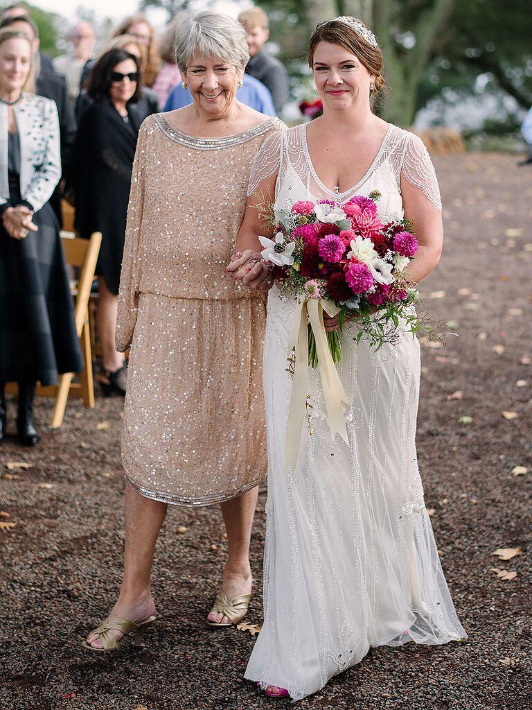 Jenny Packham bead embellished wedding gown