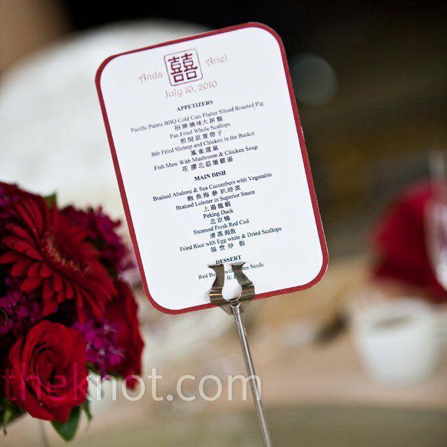 Chinese Wedding Food Menu: DIY Bilingual Menus