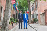 DustinDove (left) and Andy Zalewski didn't have a theme for their wedding at the Pennsylvania Academy of the Fine Arts in Philadelphia (PAFA), but th