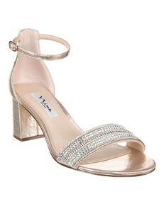 Nina Bridal Elenora_Taupe Reflective Suedette Black, Blue, Silver Shoe