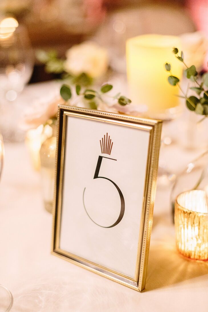 Framed Art Deco Table Numbers