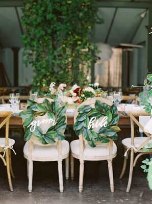 Magnolia Wreath Sweetheart Chair Signs