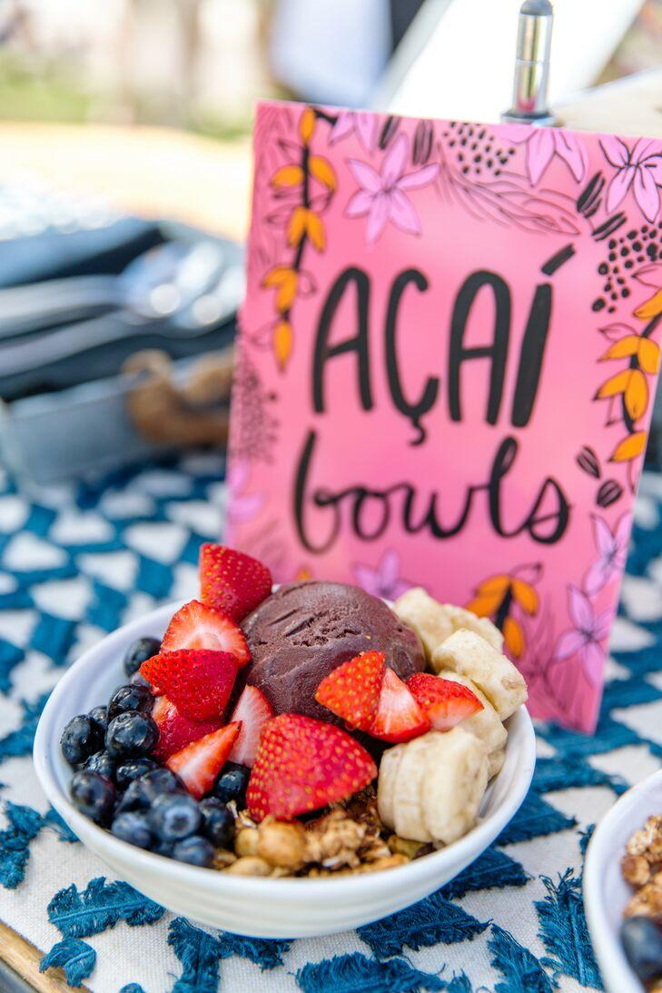 Acai Bowls at Post-Wedding Brunch in Hawaii