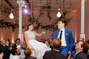 Hora Dance During Reception at Sound River Studios in Long Island City, New York
