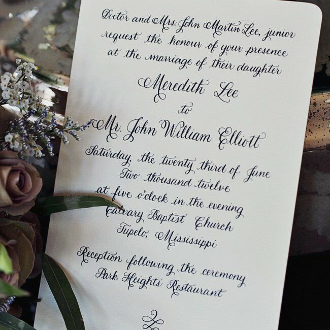 What To Write On Wedding Invitations: An Old World Charm And Vintage Wedding In Tupelo, MS