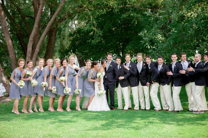 15bae69e01 Each bridesmaid wore an identical