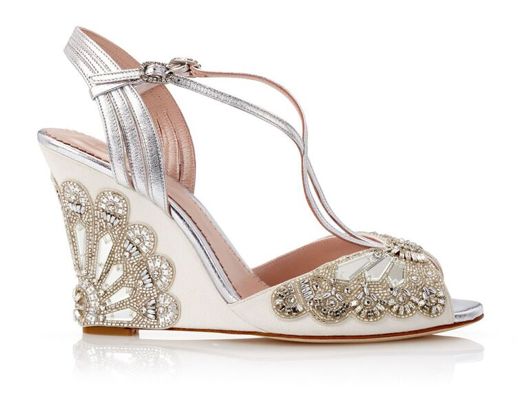 8738d0ab483 Emmy London Evelyn ivory wedding wedges