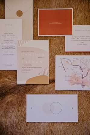 Rustic Wedding Invitations and Paper Goods with Typography