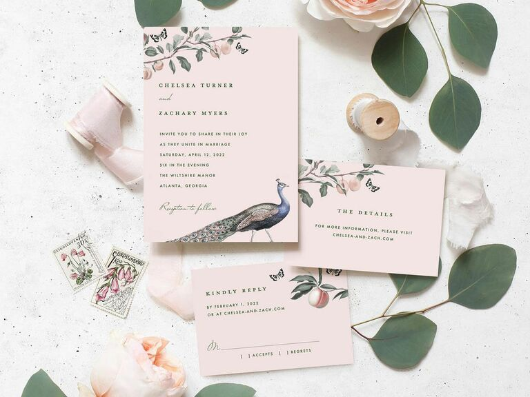 colorful printable wedding invitation