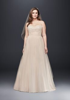 David's Bridal David's Bridal Collection Style 9WG3586 A-Line Wedding Dress