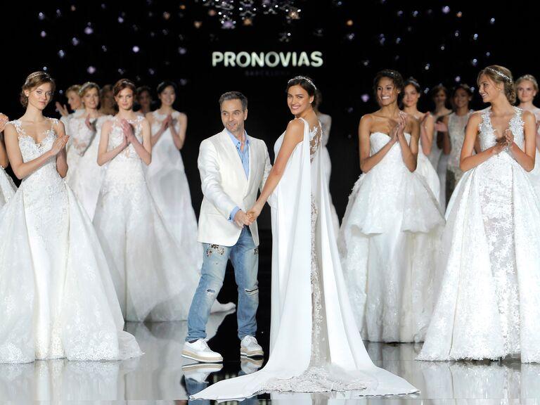 Hervé Moreau at the Pronovias fashion show at Barcelona Bridal Fashion Week