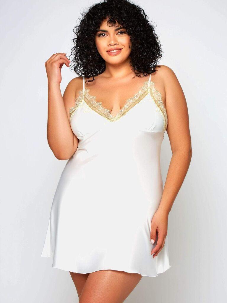 white silky chemise