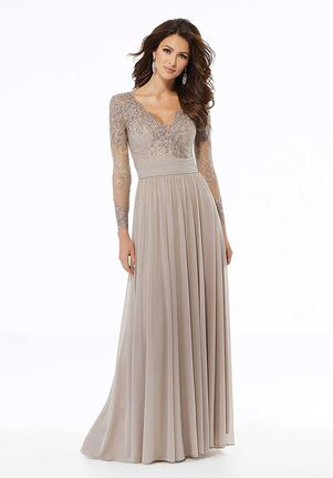 MGNY 72118 Gray Mother Of The Bride Dress