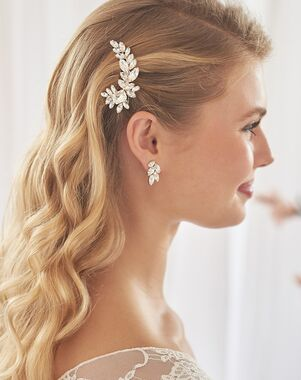 Dareth Colburn Molly Petite Bridal Clip (TC-2449) Silver Pins, Combs + Clip