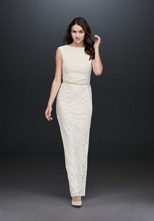 David's Bridal Marina Style 263599D Sheath Wedding Dress